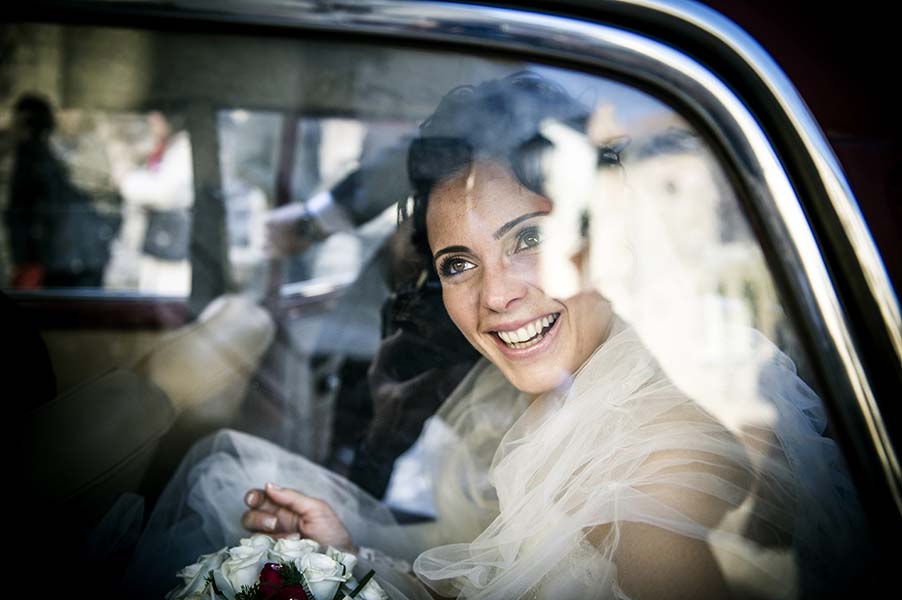 Photo Of The Day: A Happy Bride Arriving At The Wedding Ceremony