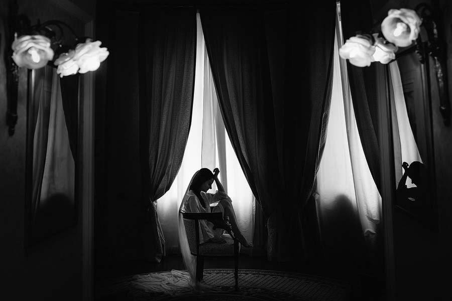 Photo Of The Day: An Emotional Bride Having A Private Moment