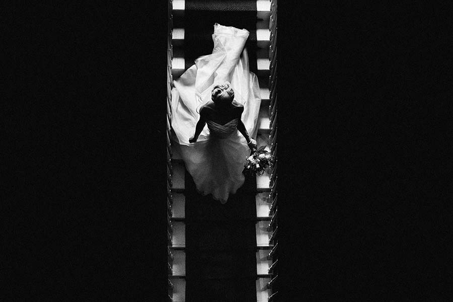 Photo Of The Day: A Beautiful Bride Descending Captured By York Place Studios