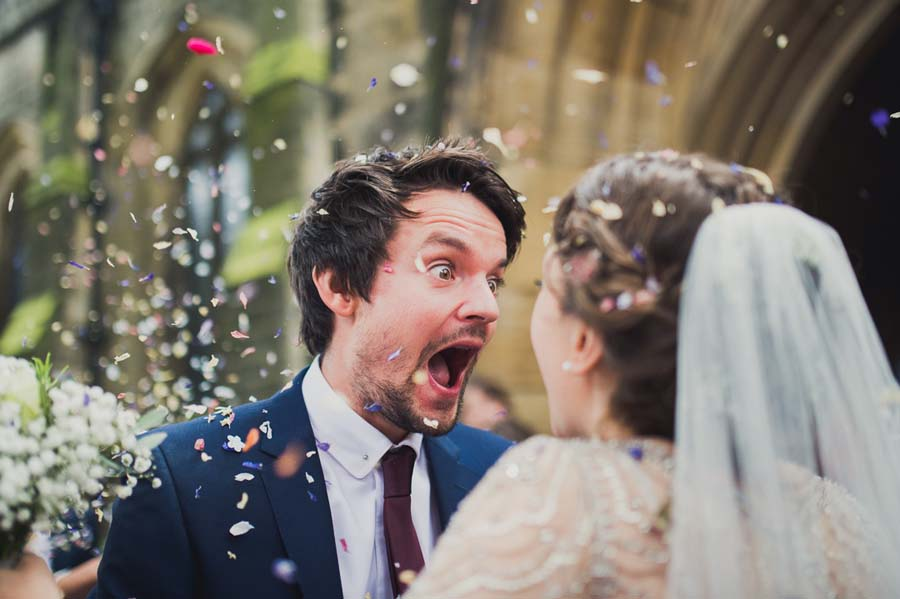 Photo Of The Day: A Wonderfully Funny Wedding Confetti Shot