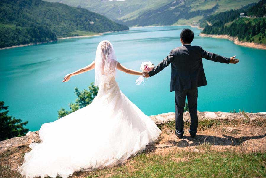 A Breathtaking Wedding In The French Alps by John Sylvoz