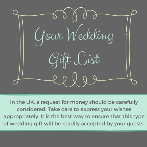 Can I Ask For Money For My Wedding Gift List?