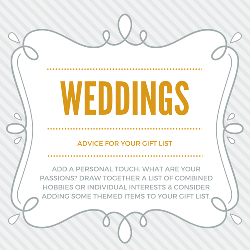 top 10 tips for creating a perfect wedding gift list